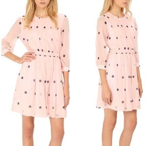 Kate Spade Pleated Polka Dot Dress